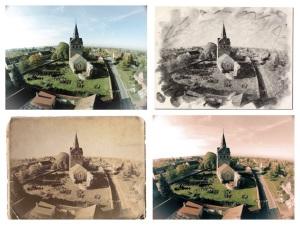Beispiele für die kreative Bearbeitungsmöglichkeit von Luftbildern