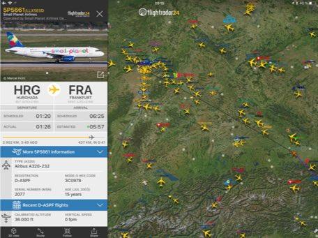 Drohnen im Luftraum Flightradar24