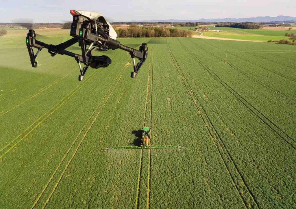 Drohnen Agrarfotos DJI Inspire Feld grün