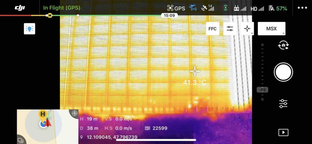 Drohnen Solar Infrarot Aufnahme