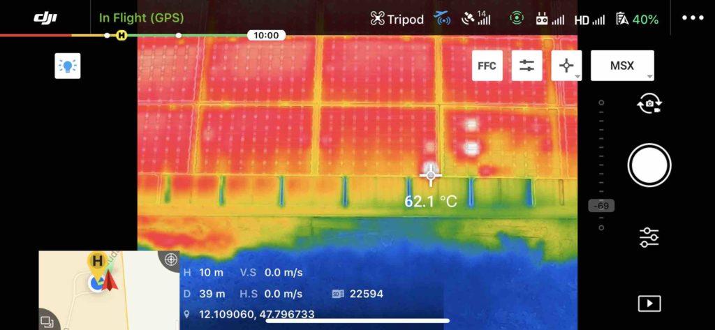 Drohnen FLIR Kamera Temperatur