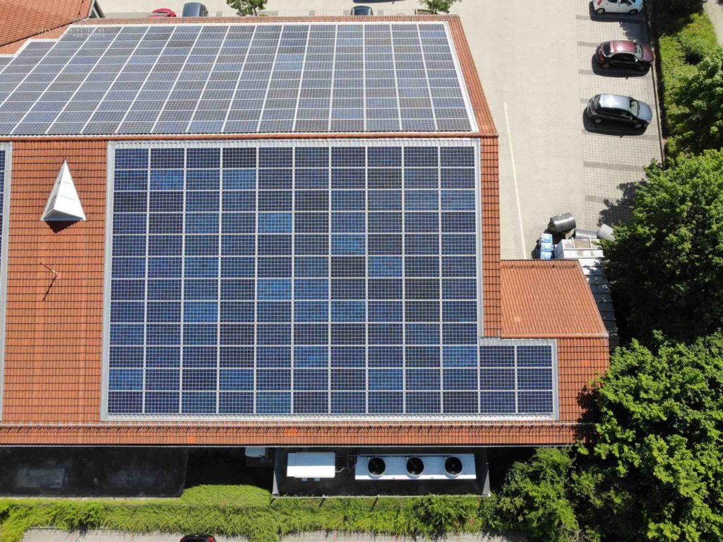 Drohnen Solar Inspektion Dach