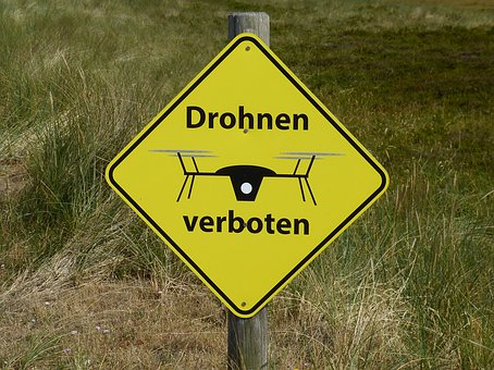 No-Drone-Zone Drohnen Flugverbotszone Schild