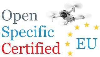 Drohnen Kategorien Open Specific Certified Drohnenregistrierung EU Drohnengesetz