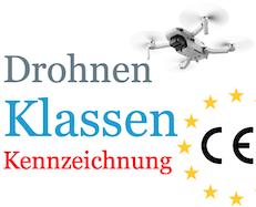 Drohnen CE Kennzeichnung Klasse EU