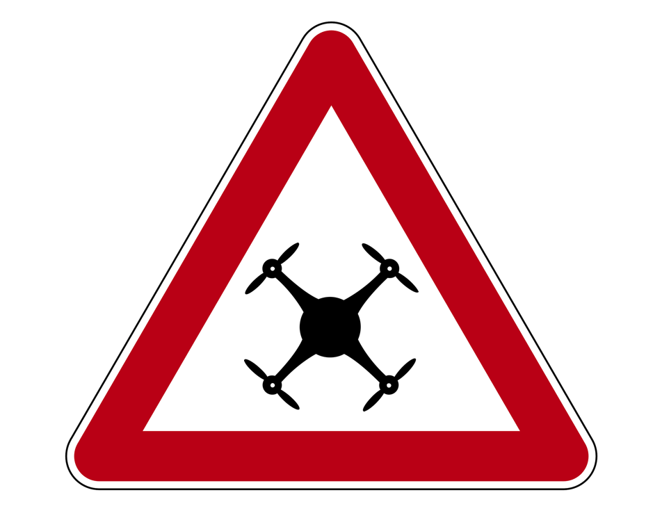 Achtung Drohne Schild drone attention sign