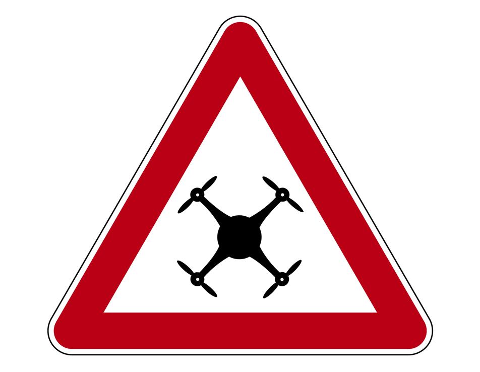 Achtung Drohne Gefahr