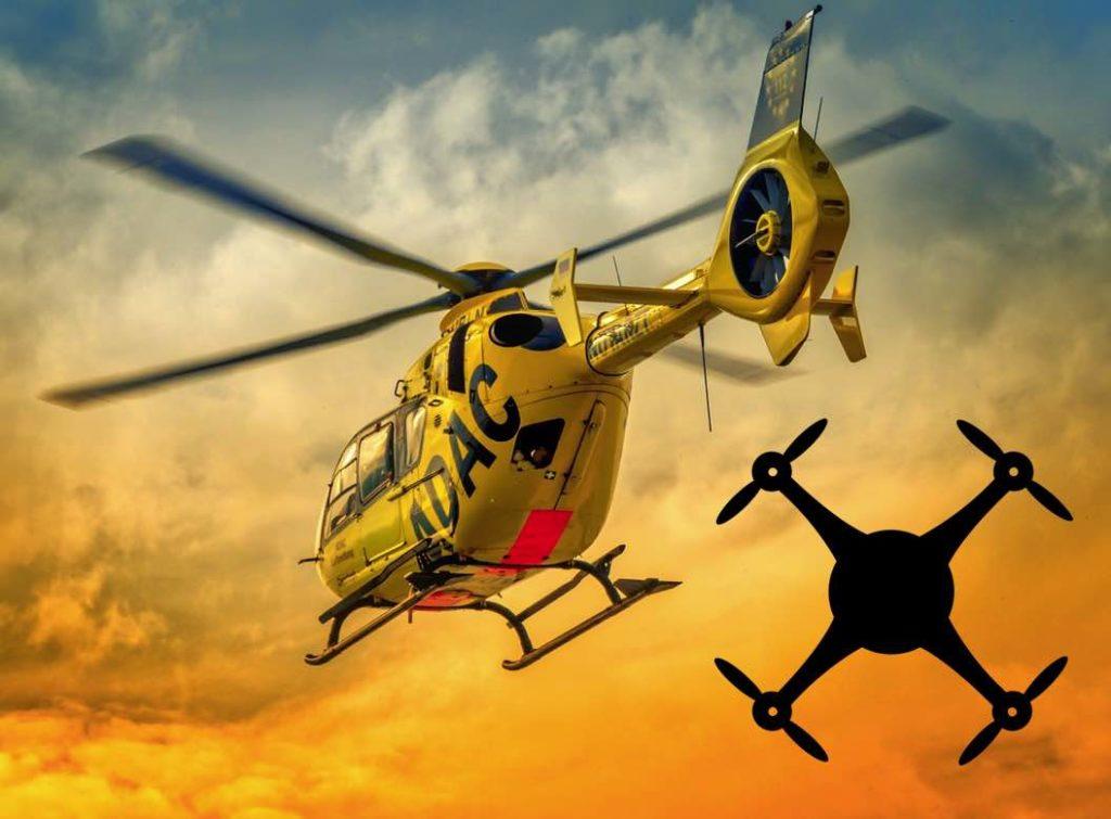 Drohnen Unfälle Helikopter Hubschrauber