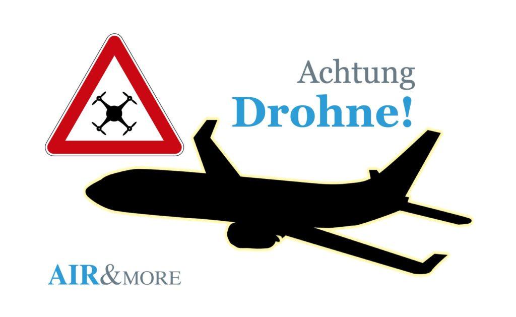 Achtung Drohnenunfall Flugzeug