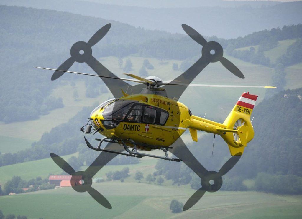 Drohnen Unfall Hubschrauber ÖAMTC Gefahr