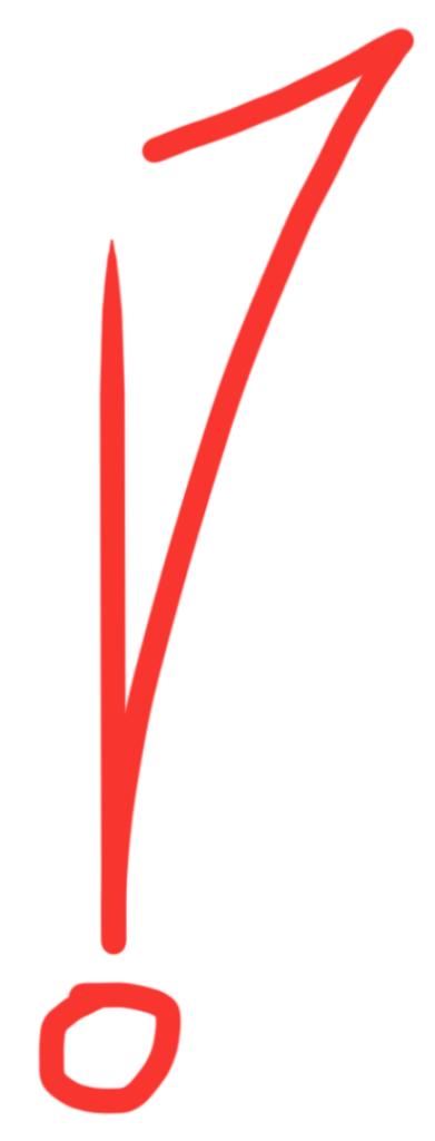 rufezeichen rot