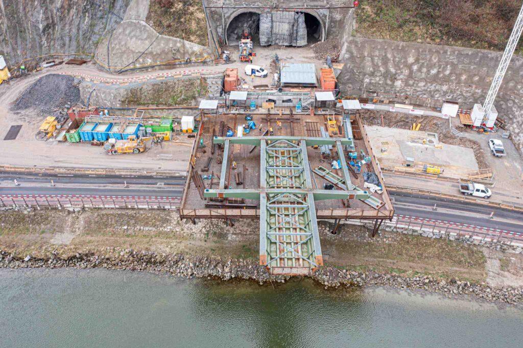 Drohnen Brücken Dokumentation Donaubrücke A26/Westring