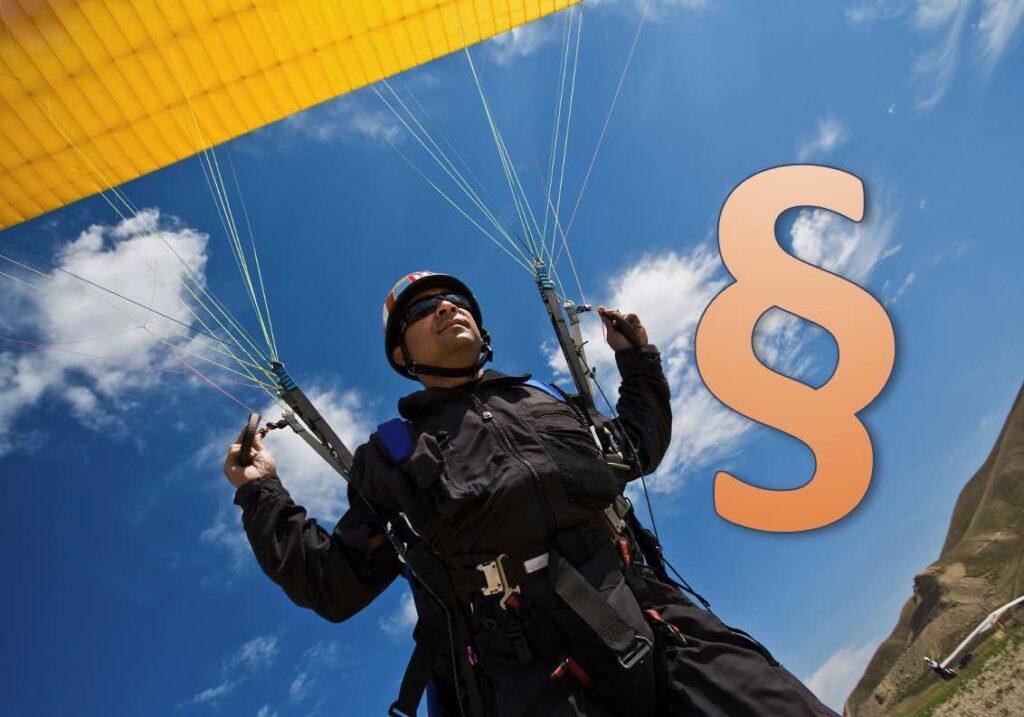 Paragleiter, Drachenflieger, Fallschirmspringer Gesetz