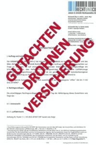 Gutachten Drohnen Versicherung Pflicht Österreich