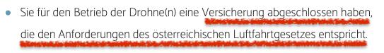 Drohnen Versicherung Pflicht Austro Control Luftfahrtgesetz Österreich